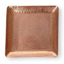 Bandeja de cobre cuadrada