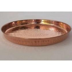 Bandeja de cobre redonda