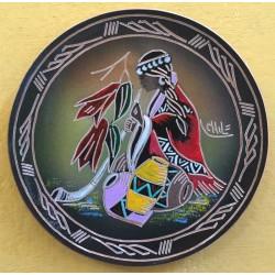 Plato Pintado Mapuche Trutruca