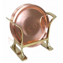 Set Posavasos cobre bronce