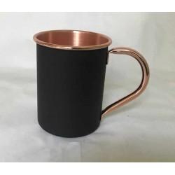 Mug de cobre Negro